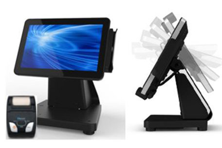 "ELO STAR Bundle, 15"" I-Series w/ flip stand and mobile printer"
