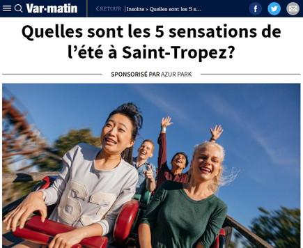 Les 5 sensations de l'été à Saint-Tropez