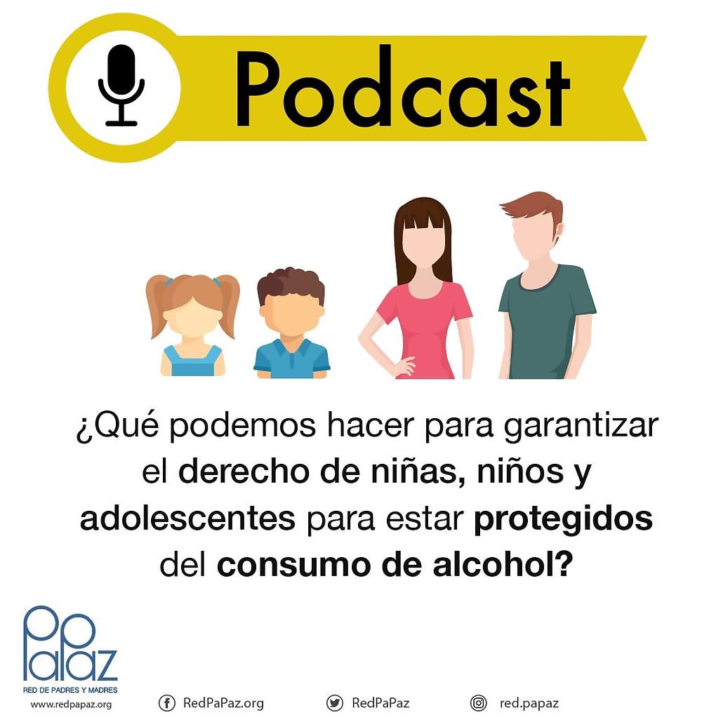 ¿Cómo construir un entorno que proteja a la niñez y la adolescencia del consumo de alcohol? con Diana Agudelo , de 7:30 pm a 8:30 pm.