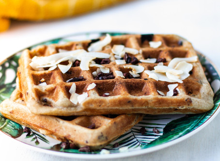 Glutenvrije Choco Banana Wafels als Ontbijt!