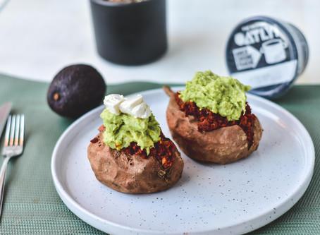 Gevulde zoete aardappel met gehakt & Guacamole | Glutenvrij & Lactosevrij