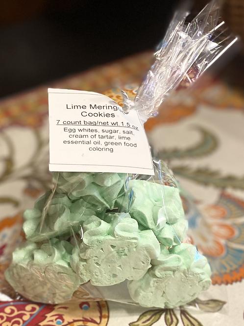 Lime Meringue Cookies