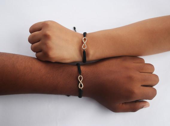 Manillas para parejas elaboradas a mano