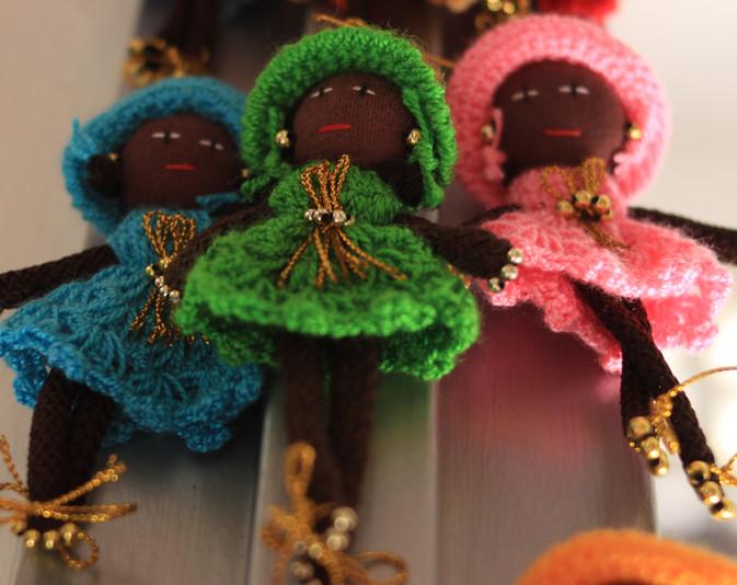 Imanes de muñecas negras