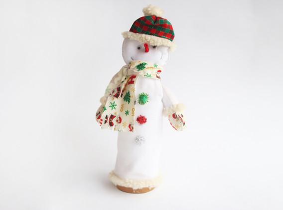 Lámpara en forma de hombre de nieve