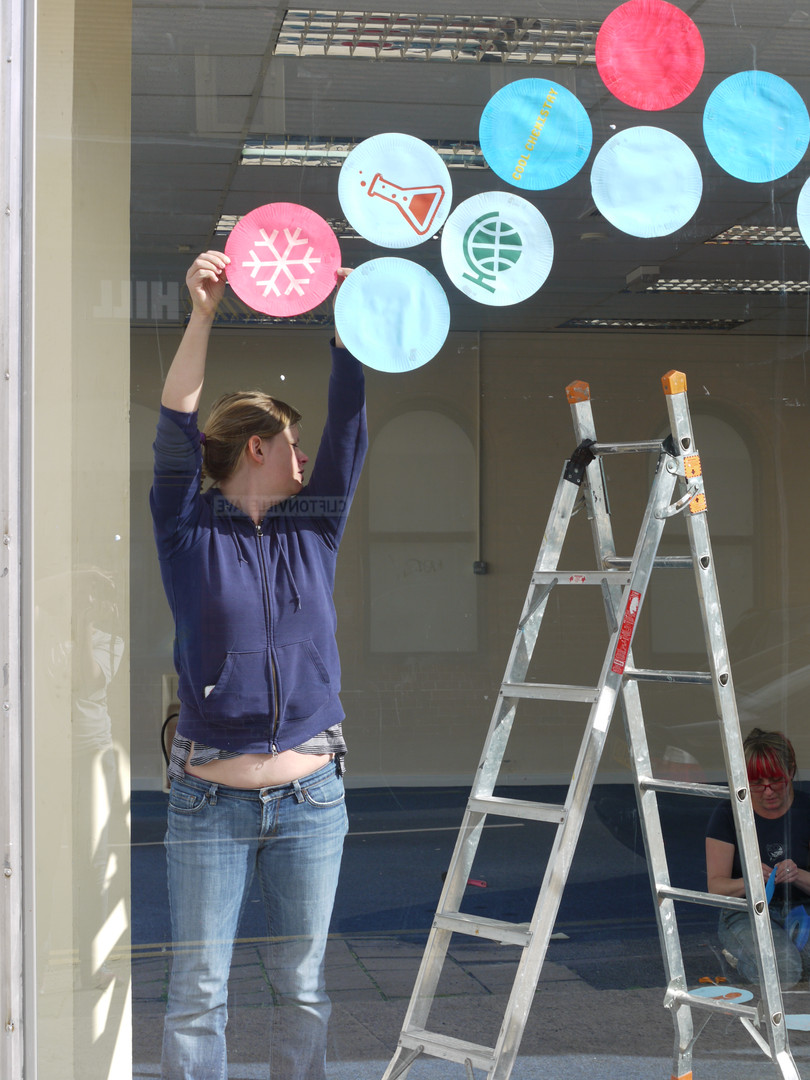 Decorating the shop Cliftonville.JPG