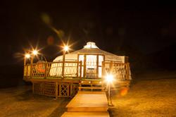 Our  yurt @ night
