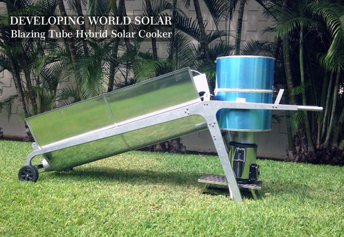 The worlds first Hybrid Solar Cooker