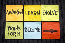 awaken, learn, evolve, transform and bec
