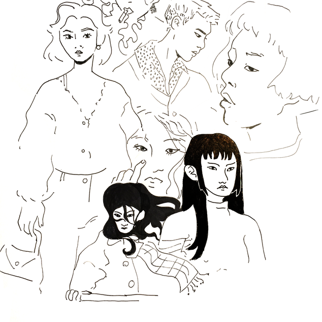 people freehand