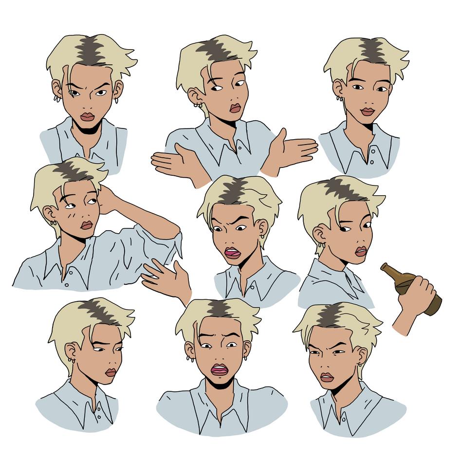 Betty Expression Sheet