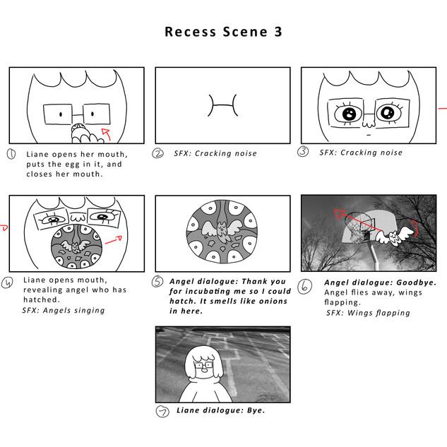 Recess Scene 3 Storyboard