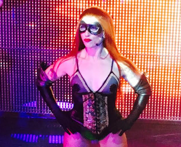 Lala Barlow as Androdgny in Terror Byte at Draculas Cabaret in Melbourne.