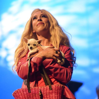 Lala Barlow as Elle Woods in Legally Blonde at Her Majesty's Theatre in Ballarat.