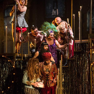 Lala Barlow as the Bearded Lady in Side Show at the Southwark Playhouse