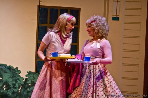 Lala Barlow as Frenchie in Grease at the Frankston Arts Centre in Melbourne.