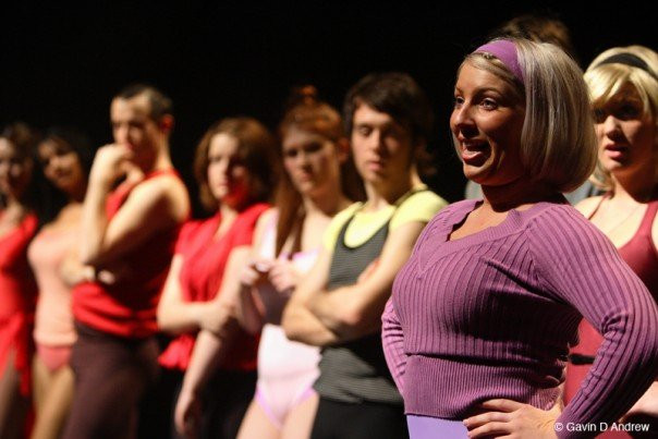 Lala Barlow as Val in A Chorus Line at the Besen Centre.