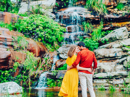 GABBY & NAT | A WATERFALL ENGAGEMENT SESSION, BLACKDOWN TABLELAND NATIONAL PARK