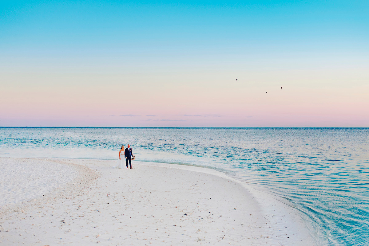 Heron Island Destination Wedding, Gladstone Southern Great Barrier Reef Island Wedding