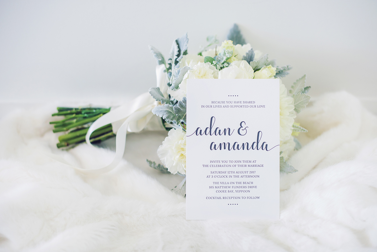 Central Queensland & destination wedding invitation stationery graphic designer