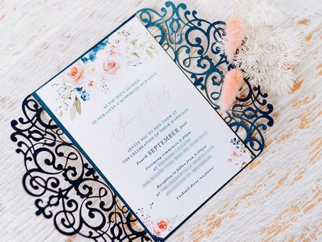 LATEST WEDDING STATIONERY DESIGNS | ROCKHAMPTON WEDDING INVITATION DESIGN