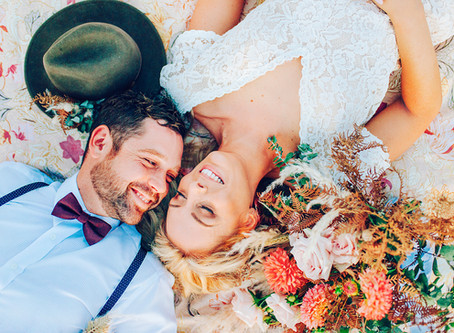LOVE IN THE VALLEY | RUSTIC BOHO STYLED SHOOT, BYFIELD