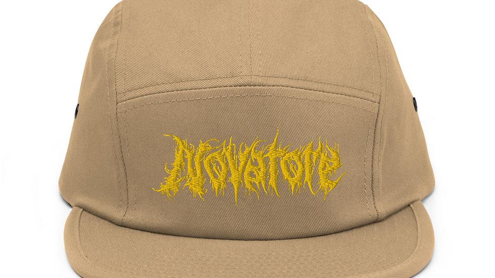 Novatore Yellow Logo 5 panel cap