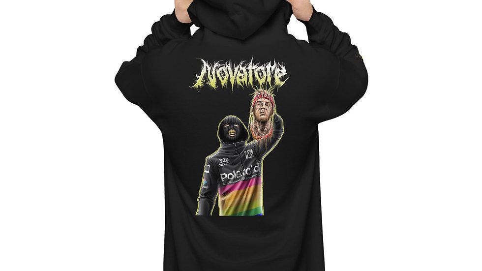 Novatore Mad Man unisex fleece hoodie with sleeve logo