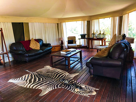 Horse riding safari South Africa Lounge area at Camp Davidson