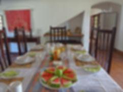 Vila de Sonhos Dining Area