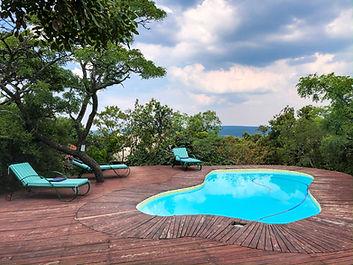Horse riding safari South Africa Camp Davidson pool area