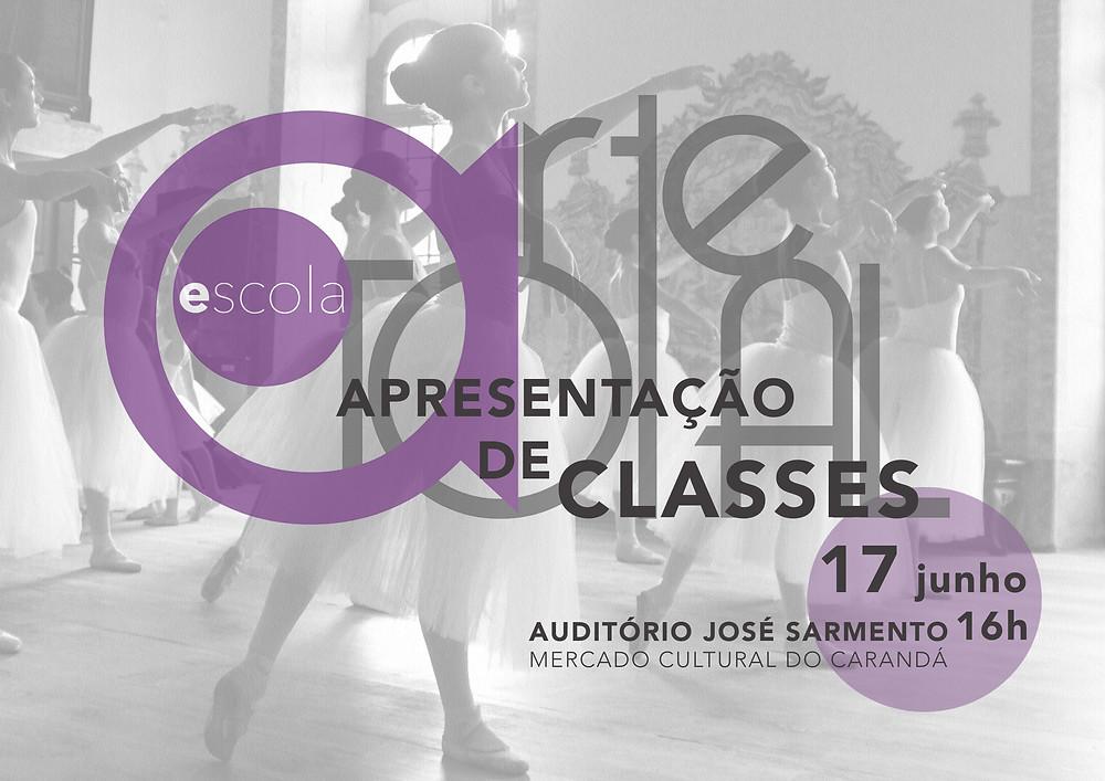 Apresentação de todas as turmas de dança da Arte Total, dos cursos anuais de Dança Educativa; Dança Criativa; Ballet RAD grades; Ballet RAD vocational; Dança Contemporânea