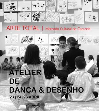 DANÇA e DESENHO | Arte Total 23,24 E 26  |  Hora 09:00-12:30 | BdeDança| Câmara Municipal de Braga|