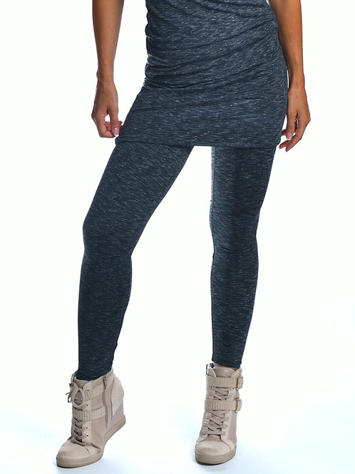skirted skinny legging