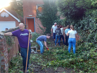 Work continues on the Garden