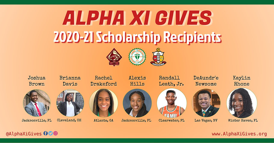 AXi Gives 2020-21 Scholarship Recipients