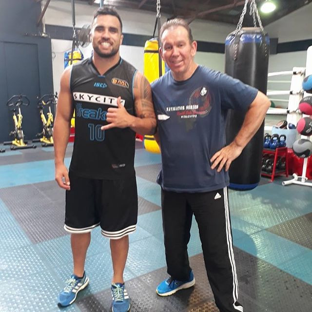 Rick with Liam Messam