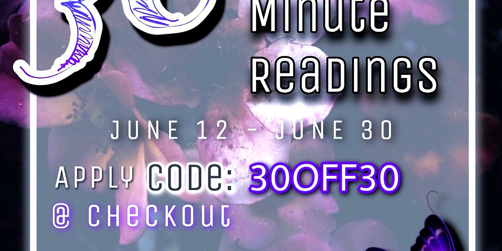 30% Off All Half Hour Readings