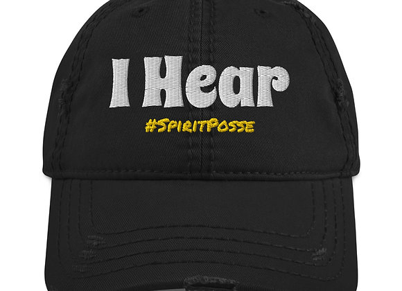 'I Hear' - Clairaudient Distressed Hat