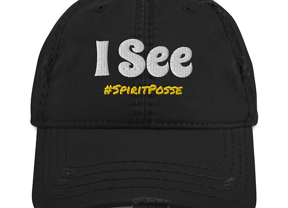 'I See' - Clairvoyant Distressed Hat