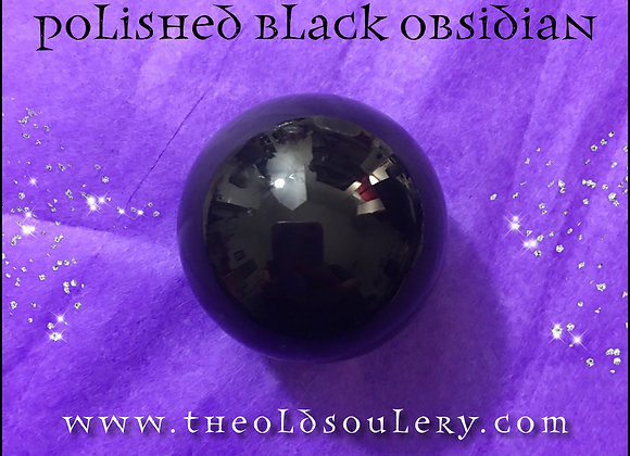 Black Obsidian Sphere with Stand