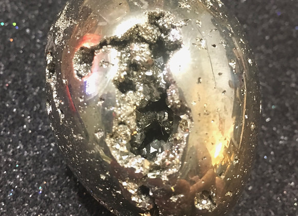 Solid Pyrite Egg-Shaped Crystal
