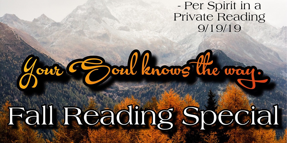 Fall Reading Specials!