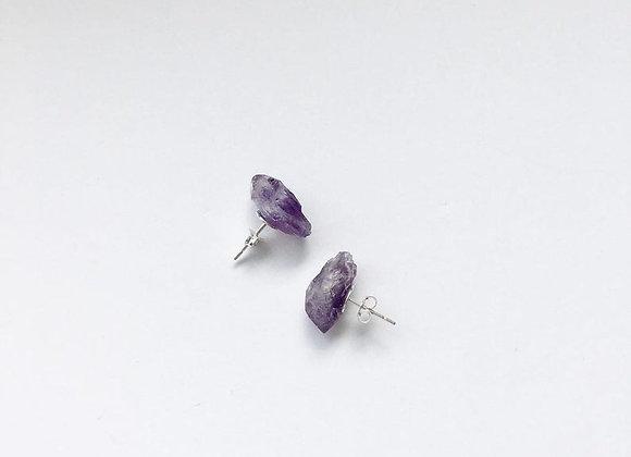 Amethyst Energizing Stud Earrings