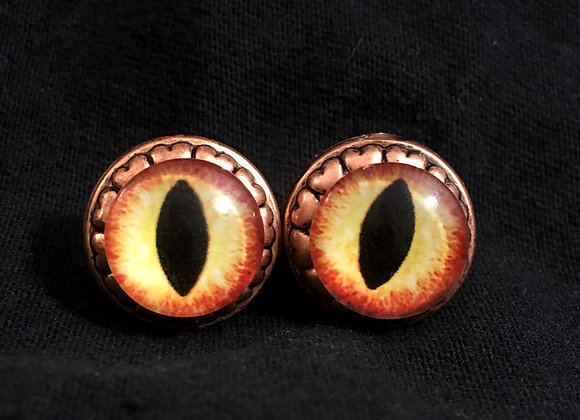CLEARANCE: Yellow Dragon Eye Earrings