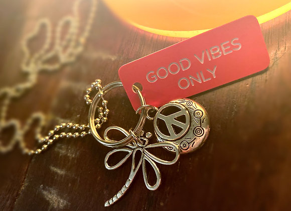 4-In-1 Good Vibes Dragonfly Necklace