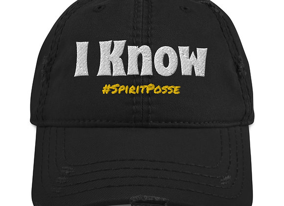 'I Know' - Claircognizant Distressed Hat