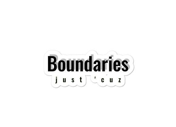 Boundaries Sticker