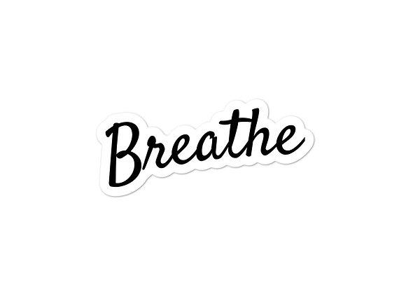 Breathe Sticker in Black