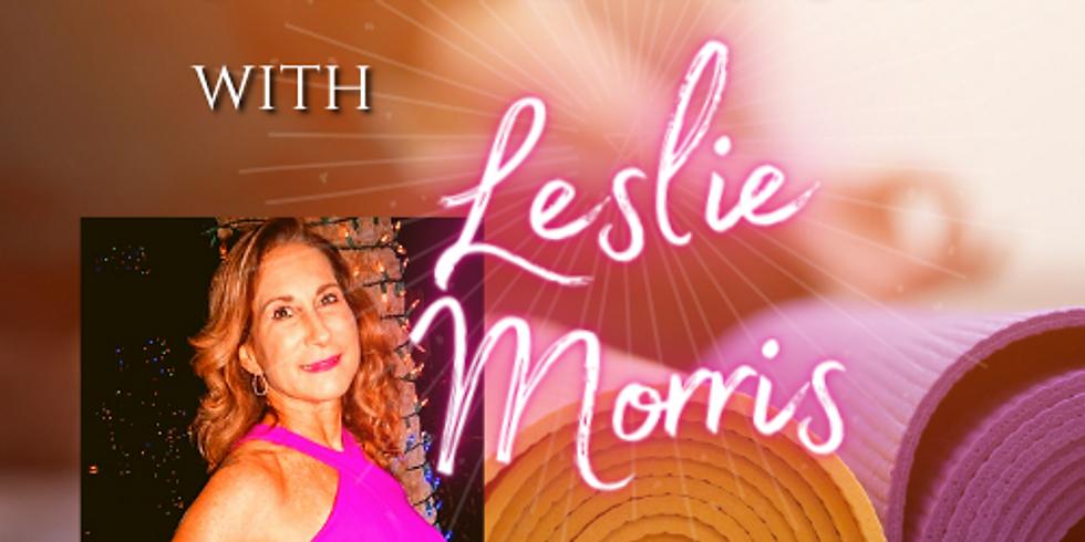 6p EST Friday Gentle☀️ Online Yoga with Leslie Morris